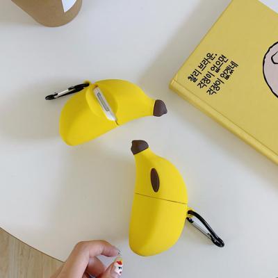에어팟실리콘케이스 차이팟 귀여운 노랑 바나나 유/무선 충전 커버 키링 세트 커플 악세사리 추천 1/2 세대