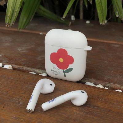 에어팟실리콘케이스 차이팟 귀여운 심플 플라워 TPU 젤리 유선/무선 충전 커버 커플 악세사리 추천 1/2세대
