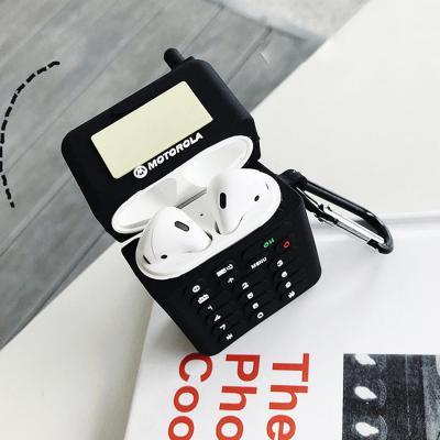 에어팟실리콘케이스 특이한 모토로라 삐삐 휴대폰 무선 이어폰 충전 커버 카라비너 고리 1/2세대 악세사리