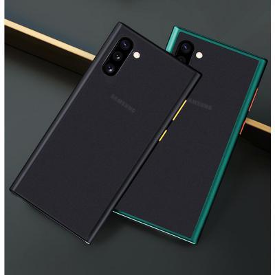 갤럭시 노트10 노트10플러스 심플 매트 블랙 초슬림 스키니 지문방지 TPU 실리콘 범퍼 하드 핸드폰 케이스