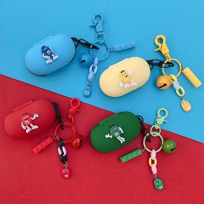 갤럭시버즈 1 2 플러스 귀여운 M초콜렛 커플 캐릭터 실리콘 충전 케이스 키링 세트 삼성 무선 이어폰