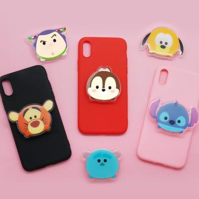 귀여운 정품 디즈니 캐릭터 스마트링 스마트톡 그립톡 3단 높이조절 마그네틱 핸드폰 거치대 이어폰줄감개