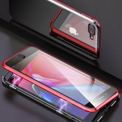 아이폰11 프로 맥스 pro max 메탈 마그네틱 풀커버 투명 강화유리 슬림 하드 범퍼 케이스