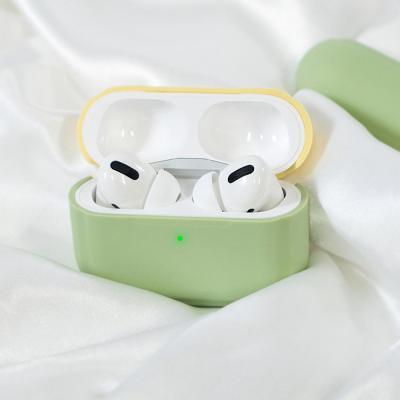 에어팟프로 3세대 파스텔 2in1 커버 커스텀 실리콘 생활방수 무선 이어폰 충전 케이스 철가루방지스티커