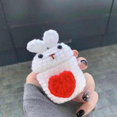 에어팟케이스 차이팟 귀여운 토끼 캐릭터 인형 유선 무선 충전 뜨개질 니트 털 커버 1/2 세대 커플 추천