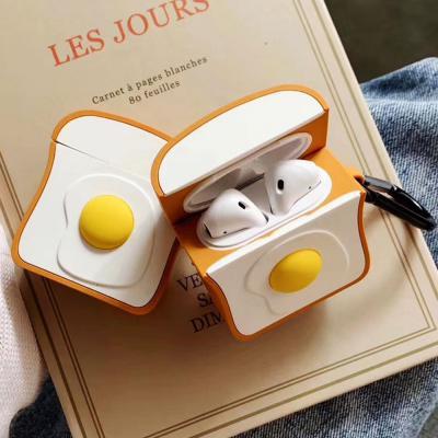 에어팟 프로 3세대 특이한 에그 식빵 토스트 실리콘 PRO 무선 이어폰 충전 키링 케이스 귀여운 악세사리
