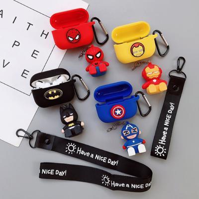에어팟프로케이스 3세대 귀여운 히어로 캐릭터 실리콘 유선 무선 충전 커버 스트랩/키링고리/인형거치대