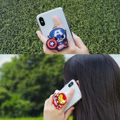 귀여운 마블 히어로 정품 캐릭터 스마트톡 그립톡 3단 높이조절 마그네틱 핸드폰 거치대 호환 이어폰줄감개
