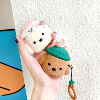 에어팟프로케이스 3세대 귀여운 테디 강아지 커플 캐릭터 젤하드 충전 스킨 키링고리 무선 이어폰 악세사리