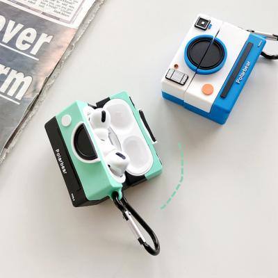 에어팟프로케이스 3세대 특이한 입체 즉석카메라 커플 무선 이어폰 충전 실리콘 젤리 스킨 커버 악세사리