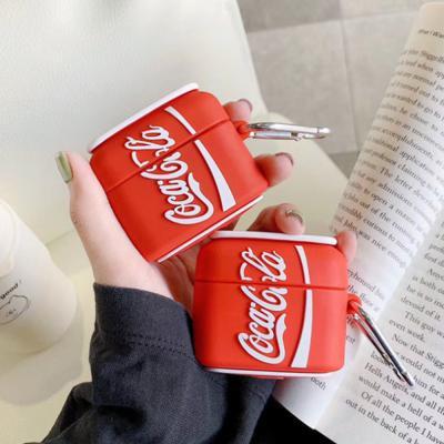 에어팟프로 3세대 특이한 콜라 포카리 캔음료 실리콘 커플 무선 이어폰 충전 케이스 키링 고리 악세사리
