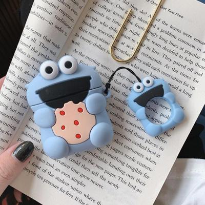 에어팟프로 3세대 귀여운 커플 쿠키몬스터 캐릭터 PRO 무선 이어폰 충전 실리콘 키링 고리 케이스 악세사리