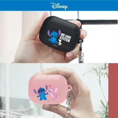 에어팟프로 3세대 디즈니 정품 스티치 캐릭터 스키니 TPU 실리콘 키링 PRO 무선 이어폰 커플 충전 케이스