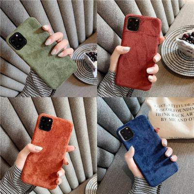 아이폰11 프로 맥스 XR XS 8 7플러스 심플 컬러 모직 패브릭 슬림 스키니 소프트 핸드폰 케이스 커플 추천