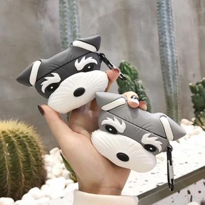 에어팟프로케이스 귀여운 강아지 슈나우저 커플 캐릭터 PRO 무선 이어폰 실리콘 충전 악세사리 키링 3세대