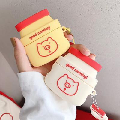 에어팟프로 귀여운 커플 돼지 요구르트 PRO 무선 이어폰 실리콘 충전 키링 케이스 철가루방지스티커 3세대