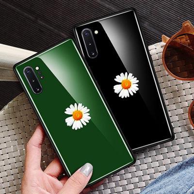 갤럭시노트10 노트10플러스 노트9 심플 국화꽃 디자인 강화유리 하드 슬림핏 TPU 범퍼 커플 핸드폰 케이스