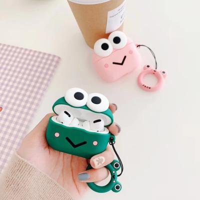 에어팟프로 3세대 귀여운 커플 개구리 캐릭터 실리콘 무선 이어폰 충전 케이스 키링 철가루스티커 악세사리