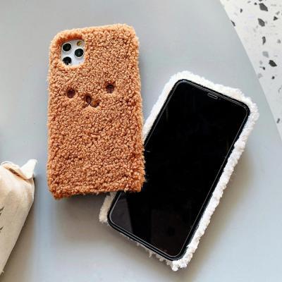 아이폰11 프로 맥스MAX XR XS 8 7 플러스 귀여운 커플 뽀글이 토끼 캐릭터 양털 후리스 겨울 소프트 케이스