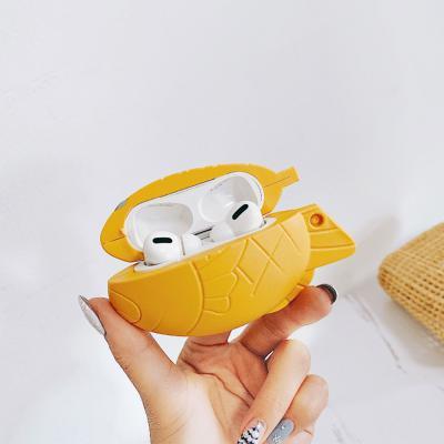 에어팟프로 3세대 특이한 입체 붕어빵 실리콘 무선 이어폰 충전 케이스 철가루스티커 커플 추천 악세사리