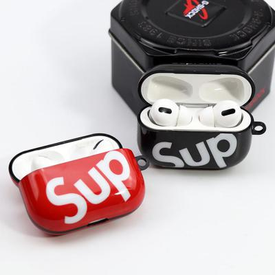 에어팟 1 2 3세대 프로 스키니 SUP 슈프림 실리콘 무선이어폰 충전 케이스 철가루방지스티커 커플 악세사리