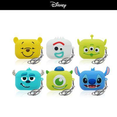 에어팟프로 3세대 디즈니 정품 캐릭터 TPU실리콘 키링 세트 PRO 무선 이어폰 충전 케이스 철가루방지스티커