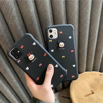 아이폰11 프로 맥스 MAX XR XS 8 7플러스 귀여운 커플 마우스 입체 캐릭터 TPU 실리콘 젤리 핸드폰 케이스