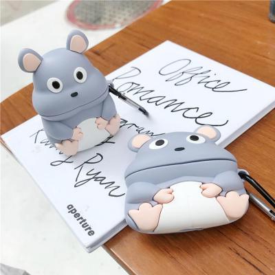에어팟 1 2 3 세대 프로 특이한 생쥐 캐릭터 실리콘 무선 이어폰 충전 케이스 키링 철가루스티커 악세사리