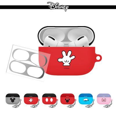 에어팟프로 귀여운 디즈니 정품 심볼 커플 캐릭터 무선 이어폰 충전 하드케이스 키링/철가루스티커 3세대