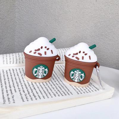 에어팟 1 2 3세대 프로 귀여운 별다방 휘핑크림 커피 실리콘 무선 이어폰 케이스 키링 세트 철가루스티커