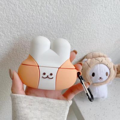 에어팟 1 2 3세대 프로 귀여운 볼빨간 토끼 캐릭터 실리콘 충전 케이스 키링 고리 철가루스티커 커플 추천