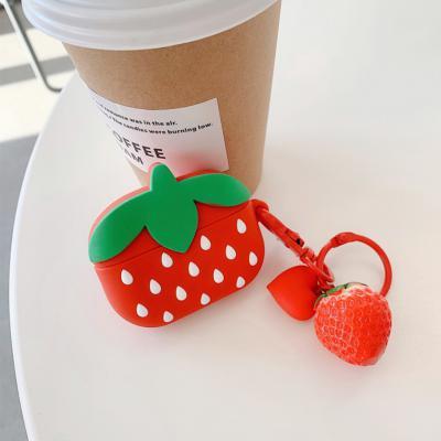 에어팟 프로 3세대 귀여운 딸기 실리콘 충전 케이스 캐릭터 키링 고리 세트 무선 이어폰 악세사리 추천