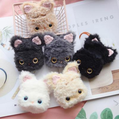 에어팟1 에어팟2 귀여운 고양이 캐릭터 커플 인형 실리콘 털 케이스 철가루스티커/핸드메이드 한정판매