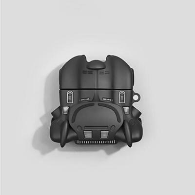 에어팟프로 3세대 특이한 박쥐 히어로 캐릭터 블랙 다크나이트카 실리콘 충전 케이스 철가루스티커 세트