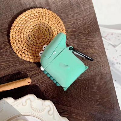 에어팟 1 2 3 프로 특이한 악어 캐릭터 무선 이어폰 실리콘 충전 케이스 키링 세트 귀여운 커플 악세사리
