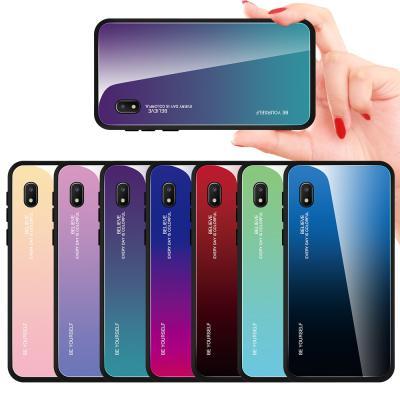 그라데이션 갤럭시 a10 a10e a10s a30 a40 예쁜 강화유리 슬림 하드 범퍼 핸드폰 케이스