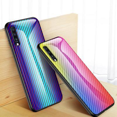 그라데이션 갤럭시 노트10 플러스 S10 5G S10E 카본 강화유리 슬림 하드 범퍼 예쁜 핸드폰 케이스