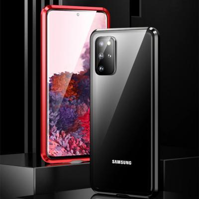 갤럭시 S20 S20플러스 S20울트라 5G 강화유리 메탈 마그네틱 투명 하드 범퍼 핸드폰 케이스
