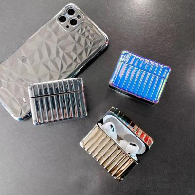 에어팟프로/3세대 특이한 컨테이너 홀로그램 실리콘 충전 케이스/커플 무선 이어폰/철가루스티커