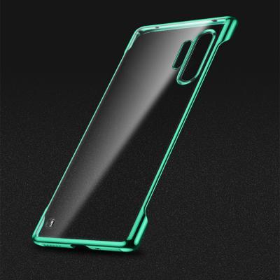 갤럭시s20 s20플러스 s20울트라 5G 클리어 메탈 컬러 라인 투명 하드 스키니 범퍼 핸드폰 케이스