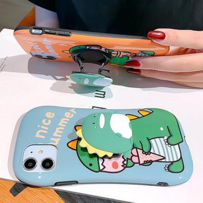 아이폰11 프로 맥스 xr xs 8 7플러스 귀여운 커플 공룡 캐릭터 그립톡 글리터 젤리 범퍼 핸드폰 케이스