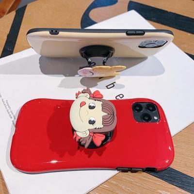 아이폰11 프로 맥스 xr xs 8 7플러스 귀여운 캐릭터 그립톡 무지 글리터 젤리 범퍼 커플 케이스