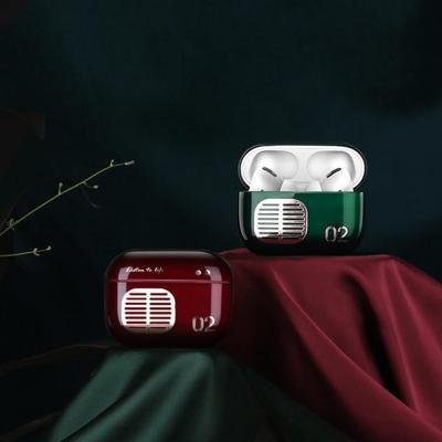 에어팟 1/2/3 프로 레트로 라디오 유광 젤하드 슬림핏 무선 충전 케이스/생활방수/철가루스티커