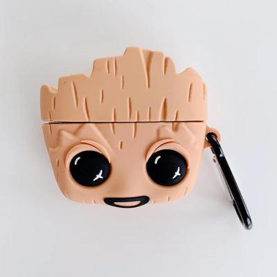 에어팟 1/2/3 프로 귀여운 나무 피규어 캐릭터 실리콘 충전 케이스/키링 고리/무선 이어폰/철가루스티커