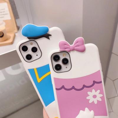 아이폰11 프로 pro max xr xs 8 7 귀여운 입체 캐릭터 오리엉덩이 커플 소프트 젤리 케이스