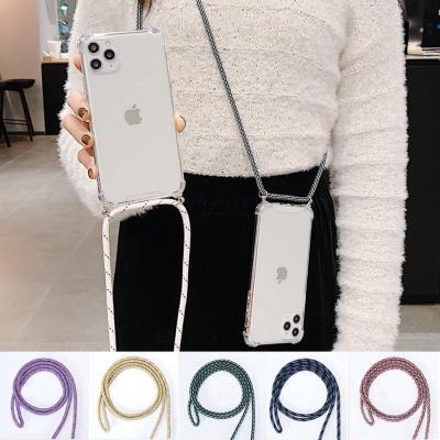 엘지 LG G7 ThinQ K12 K40 K50 Q60 크로스 스트랩 핸드폰줄 목걸이 투명 젤리케이스/분실방지/초등학생추천