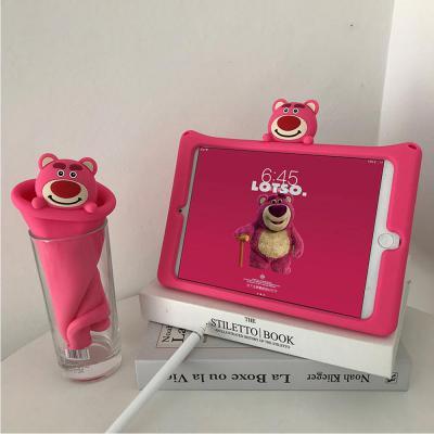 아이패드 7세대 프로11 미니5 4 3 2 1 에어2 1 귀여운 다람쥐 곰돌이 캐릭터 실리콘 거치대 스탠드 케이스