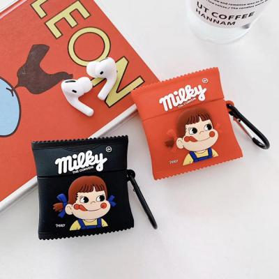 에어팟 케이스 1/2세대 귀여운 페코 사탕 실리콘 무선 이어폰 충전 커버/커플 캐릭터/키링 고리
