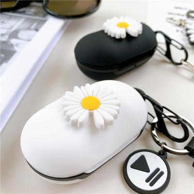 갤럭시버즈 1 2 플러스 국화꽃 입체 실리콘 충전 케이스 귀여운 키링 세트 삼성 무선 이어폰 커플 커버