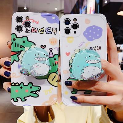 아이폰 se2 11 pro max xr xs 8 7 귀여운 공룡 글리터 그립톡 카메라보호 실리콘 범퍼 핸드폰 케이스